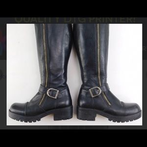 Harley Davidson 100% Leather Woman's Boots Size 7